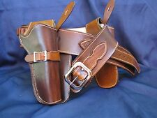Leather Western Double Holster Rig | Straight Draw Gun Belt