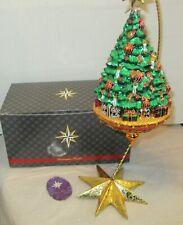 "Radko Joyous Celebration Christmas Tree 1017133 Ornament w/ Box 9.5"" New Nib"