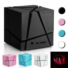 Cool Bluetooth Wireless Stereo Speaker With TF Solt/LED Light For Cellphones HTC