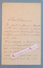 L.A.S 1872 Jules JACQUEMART Graveur aquarelliste illustrateur Vase Sèvres lettre
