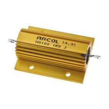 1 x Arcol Aluminium Wire Wound Resistor HS100 1R5 J, 1.5Ω ±5% 100W