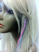 Clip On 4-6 inch Mermaid 100% Real Hair 5 Feather Extensions bonded at the tip