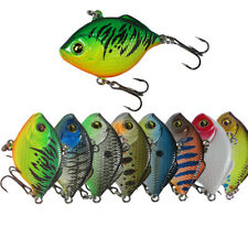 8Pcs Mini VIB Fishing Lures with Treble Hooks Crankbait Iscas Fat Artificial Har