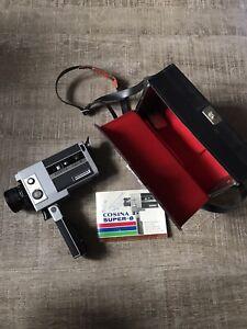 Vintage Cosina Super 8 DL-40P Movie Camera + Case + Instructions