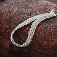 Platinum Plated Silver Elegant Brilliant Bangle Bracelet with Swarovski Elements
