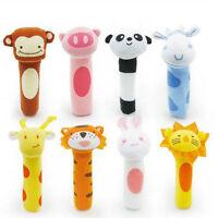 Bébé hochet jouet bibi bar animal jouets grincer poupée peluche marionnettes ww