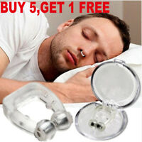5pcs Anti Snoring Apnea Silicone Nose Clip Magnetic Sleeping Aid Device Hot Sale