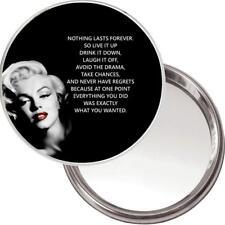 """Neuf Unique Bouton Miroir. Image de Marilyn Monroe """" Rien Dure Forever, So """""""