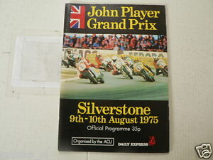 1975 BRITISH MOTORCYCLE GRAND PRIX SILVERSTONE PROGRAMME 9/10 TH AUGUST SHEENE