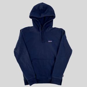 Patagonia Logo Navy Hoodie - Size S