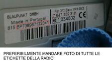 codice sblocco autoradio recupero radio fiat 500 blaupunkt o bosch