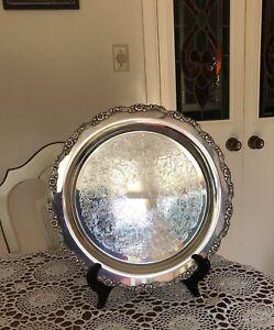 """Antique-Oneida Silversmiths 15"""" SilverPlatte Serving Tray"""