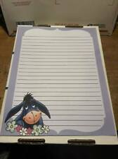 25 Sheets Computer Stationary Disney Eeyore Lined  8-1/2 x 11
