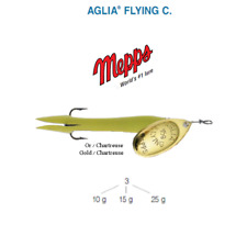 Cuiller MEPPS AGLIA FLYING C  10 g Or (Gold) / Chartreuse (Chartreuse)