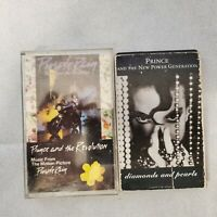 Vintage Prince Purple Rain Cassette lot 2 diamonds and Pearls Pop