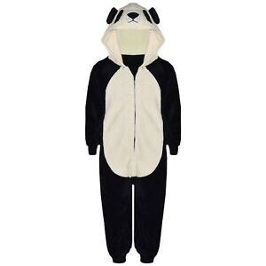 Kids Girls Boys A2Z Onesie One Piece Soft Fluffy Panda Halloween Costume 7-13 Yr