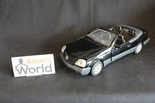 Majorette Mercedes-Benz S 600 Cabriolet 1:18 black, built transkit NB (JS)