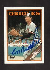 Tom Niedenfuer--1988 Autographed Baseball Card Card--Baltimore Orioles