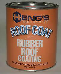 American Motorhome RV Hengs Rubber Roof Coating 1 US Quart  46032