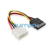 K32 15cm SATA Kabel 15 pin Buchse auf IDE 4 pol Molex Stecker Strom Festplatte