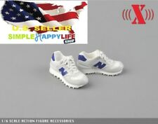 "1/6 scale white man sneaker for 12"" figure hot toys phicen Ganghood ❶US SELLER❶"