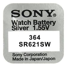 Pila Botón / Moneda Original SONY 364 (sr621sw) de 1,55 V. Litio Blister b63