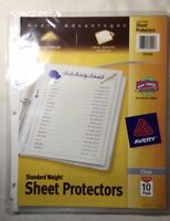 Avery Standard Weight Top Loading Sheet Protectors Pack Of 10
