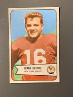 1954 Bowman #55 Frank Gifford New York Giants HOF EXMT+ *Nice