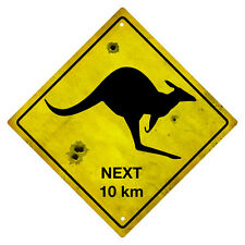 KANGAROO AUSTRALIAN ROAD SIGN  KANGAROO SOUVENIR SIGN