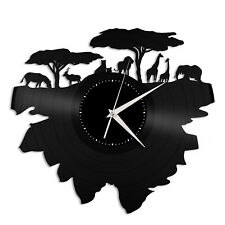 Savannah Nature Vinyl Wall Clock Unique Gift Home Room Decor