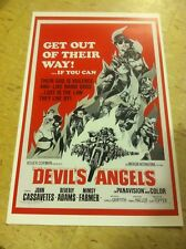 Vintage Devils Angels Motorcycle Movie Poster Home Decor Art Christmas Present