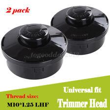 2x Universal Trimmer Head Black Strimmer Bump Feed Line Spool Brush Cutter Grass