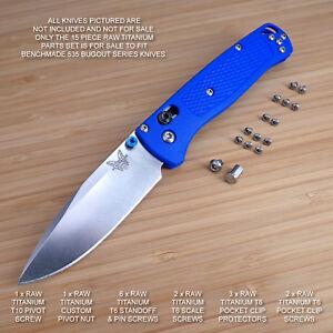 Benchmade 535 BUGOUT 15 PC Custom RAW Titanium Torx Screw & Pivot Set - NO KNIFE
