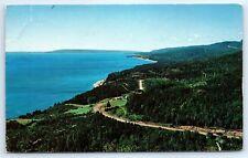 Postcard Canada Cape Breton N.S. Coastal Scene On Cabot Trail Vintage Photo B8