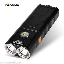 KLARUS NEW RS30BA XM-L2 U2 2400Lumens Dual Head LED Rechargeable Flashlight Set