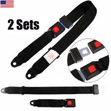 2 Point Seat Safety Belt Harness Kit Lap Seatbelt Universal Fr Car Truck Go Kart