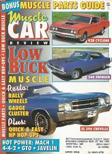 MUSCLE CAR REVIEW 1992 JULY - DONOHUE SST, CYCLONE CJ, 340 SWINGER, SS396