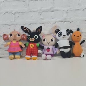 5 X Bing CBeebies Teddy Soft Toy Plush Bundle Bing Pando Flop Sula Coco