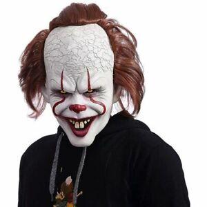 Masque de Stephen King Effrayant Masque de Latex, d'horreur de Clown Halloween