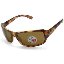 Ray-Ban RB4075 642/57 Polished Havana/Brown Polarised Unisex Wrap Sunglasses