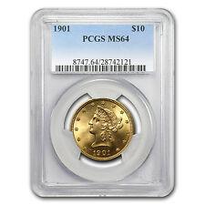 $10 Liberty Gold Eagle Coin - Random Year - Ms-64 Pcgs - Sku #12917