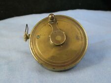 8ft VICTORIAN ANTIQUE BRASS MEASURING TAPE MEASURE SEWING CARPENTERS TOOL