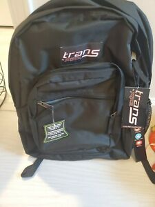 Trans By JanSport Black Padded Shoulder Strap Laptop Backpack New