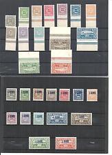 Schleswig 1920, Sätze zur Auswahl aus MiNrn: 1 -14, 15 - 28 **/*, postfrisch **