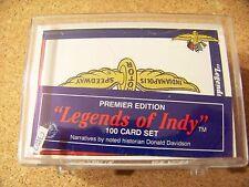 Premier Edition Legends of Indy complete racing card set 100 cards sealed c3804