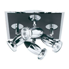 Searchlight Comet 4 Light Adjustable Head Black Chrome Ceiling Fitting Spotlight