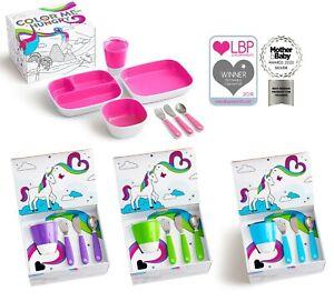 Munchkin Baby Toddler Feeding Colour Me Hungry Splash 7-Piece Dining Set