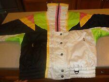 Vtg Tyrolia Neon 80s 90s SKi Snowboard Jacket Womens sz 12 (Mens Small Unisex)