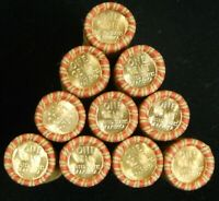 Lincoln Wheat Cent Roll Uncirculated BU Penny on end MIXED DATES Old US Coin Lot