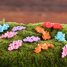 10Pcs Miniature Moss Flower Fairy Garden Resin Micro Landscape Decor Craft
